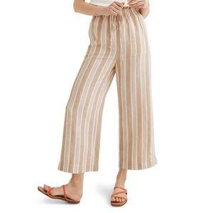 Madewell • Huston Crop Stripe Linen Pants S NWT